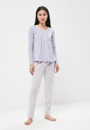 Пижама NYMOS. Цвет: фиолетовый