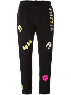 Спортивные брюки с нашивками Michaela Buerger. Цвет: чёрный