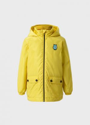 Куртка с капюшоном для девочек OSTIN. Цвет: лаймовый