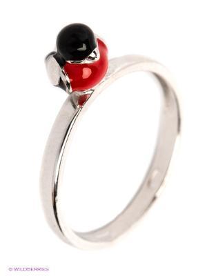 Кольцо SOKOLOV. Цвет: серебристый, красный, черный