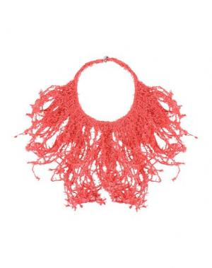 Ожерелье BRUNELLO CUCINELLI. Цвет: коралловый