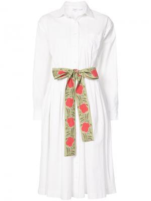 Платье-рубашка из поплина Rhode Resort. Цвет: белый