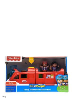 Little People Поезд Вежливые пассажиры Mattel. Цвет: синий