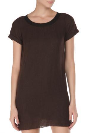 Свободное платье с короткими рукавами Costume National. Цвет: 211, коричневый