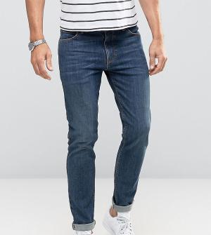 Noak Зауженные темно-синие джинсы. Цвет: синий