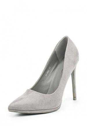 Туфли Ideal Shoes. Цвет: серый