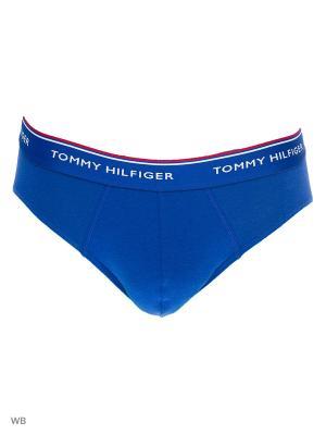 Трусы, 3 шт. Tommy Hilfiger. Цвет: голубой, желтый, синий
