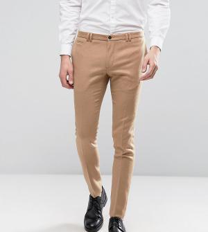 Noak Супероблегающие строгие брюки песочного цвета. Цвет: рыжий