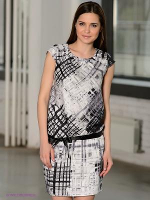 Платье F5. Цвет: черный, серый, белый