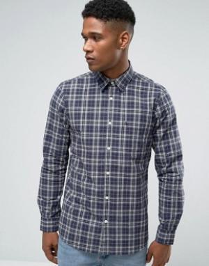 Jack Wills Поплиновая клетчатая рубашка классического кроя (темно-синий/серый) Ja. Цвет: темно-синий