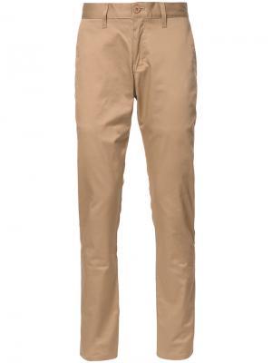Классические брюки чинос Naked And Famous. Цвет: телесный