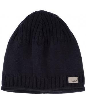 Синяя хлопковая шапка Capo. Цвет: синий