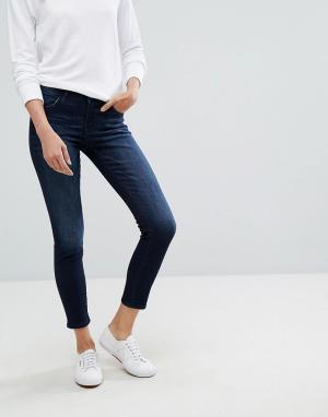 Esprit Зауженные джинсы. Цвет: синий