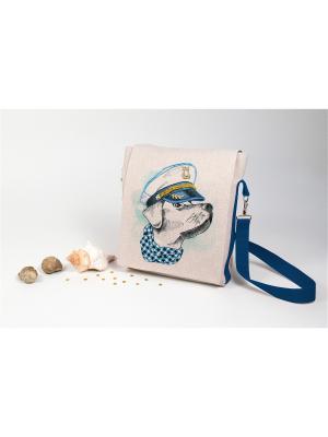 Набор для шитья и вышивки текстильная сумка- планшет Моряк Матренин Посад. Цвет: серый, голубой