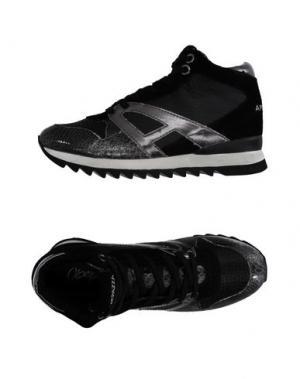 Высокие кеды и кроссовки APEPAZZA. Цвет: черный