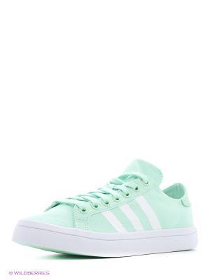 Кроссовки Courtvantage W Adidas. Цвет: зеленый