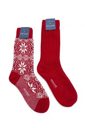 Комплект носков из шерсти 142860 Bresciani. Цвет: красный