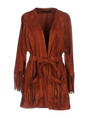 Легкое пальто ENES. Цвет: коричневый