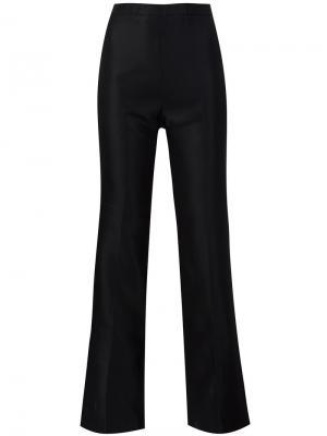 Расклешенные брюки Christian Siriano. Цвет: чёрный