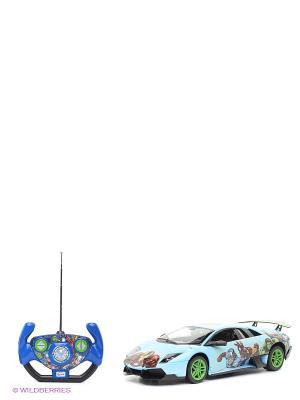 Машина радиоуправляемая Rastar murcielago lp670-4 Marvel команда мстителей. Цвет: голубой, синий