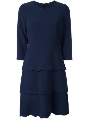 Платье с контрастным воротником Steffen Schraut. Цвет: синий
