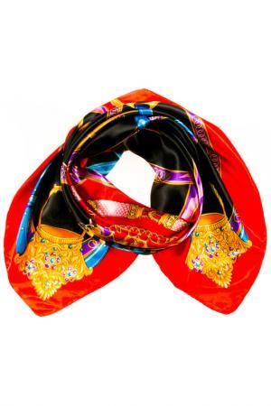 Платок Vita Pelle. Цвет: красный, черный