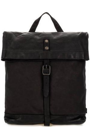 Текстильный рюкзак с кожаными вставками aunts & uncles. Цвет: черный