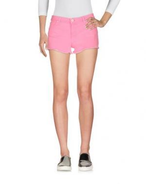 Джинсовые шорты KOCCA. Цвет: розовый