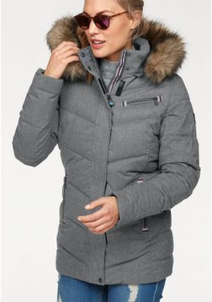 Стеганая куртка POLARINO. Цвет: серый меланжевый