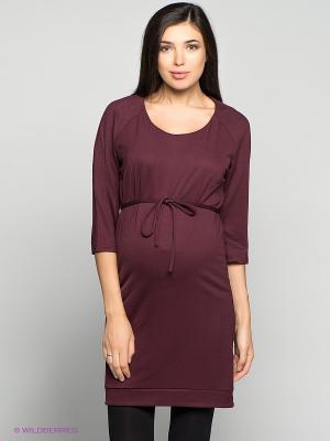 Платье Mama Licious. Цвет: темно-бордовый