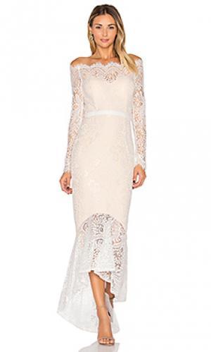 Вечернее платье marchesa Elle Zeitoune. Цвет: белый