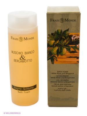 Пена для ванны с ароматом белого мускуса и бергамота Frais Monde. Цвет: прозрачный
