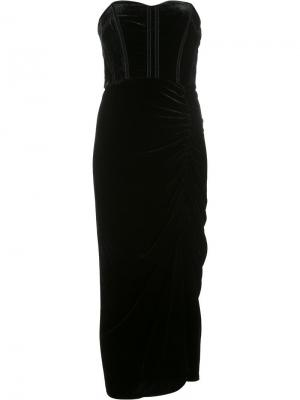 Платье без бретелек Veronica Beard. Цвет: чёрный
