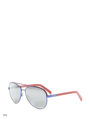 Солнцезащитные очки JC 654S ЭОС Just Cavalli. Цвет: синий, красный