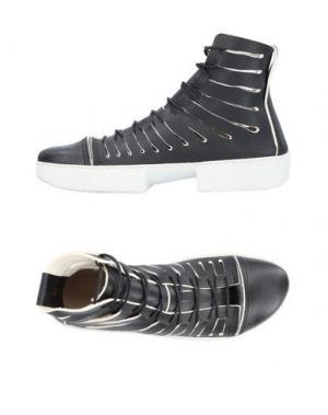 Высокие кеды и кроссовки TRIPPEN. Цвет: черный