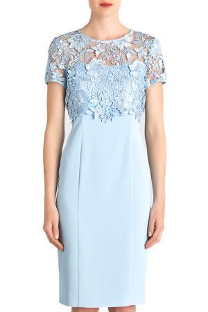 Коктейльное платье Gina Bacconi. Цвет: голубой