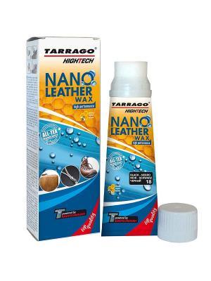 Крем тюбик с губкой NANO Leather WAX (черный) Tarrago. Цвет: черный