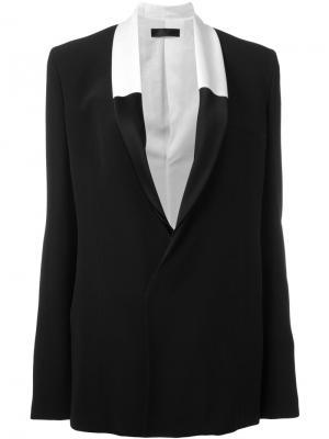 Пиджак с контрастными лацканами Haider Ackermann. Цвет: чёрный
