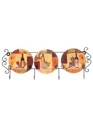 Тарелка настенная Натюрморт Elan Gallery. Цвет: бежевый, коричневый
