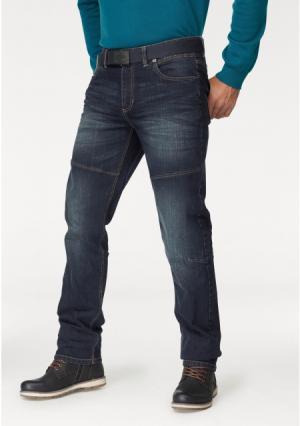 Комплект: джинсы + ремень MANS WORLD MAN'S. Цвет: темно-синий потертый