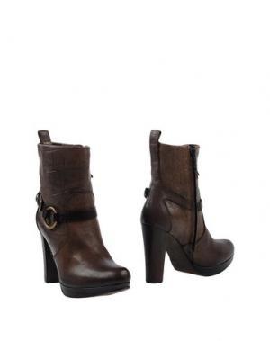 Полусапоги и высокие ботинки HENRY BEGUELIN. Цвет: темно-коричневый