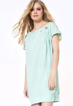 Платье LO. Цвет: бирюзовый