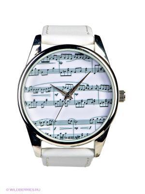 Часы Mitya Veselkov. Цвет: белый, серый