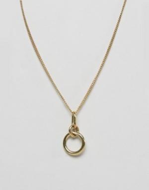 Made Ожерелье-цепочка с подвеской. Цвет: золотой