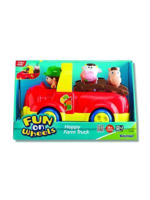 Машинка Веселая ферма (звук.) Keenway. Цвет: красный