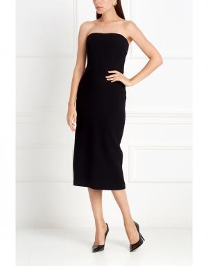 Шерстяное платье NATALIA GART. Цвет: черный
