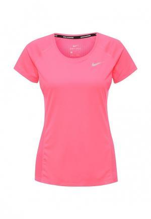 Футболка спортивная Nike. Цвет: розовый