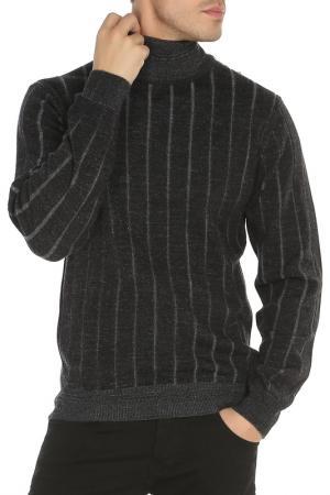Пуловер Azzaro. Цвет: черный, полоска