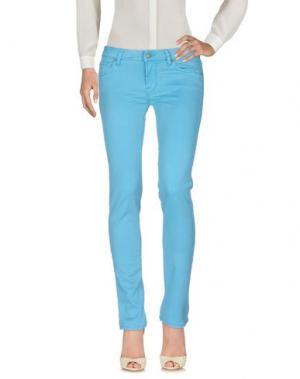 Повседневные брюки ROŸ ROGER'S. Цвет: бирюзовый