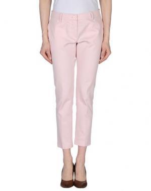 Повседневные брюки JO NO FUI. Цвет: светло-розовый